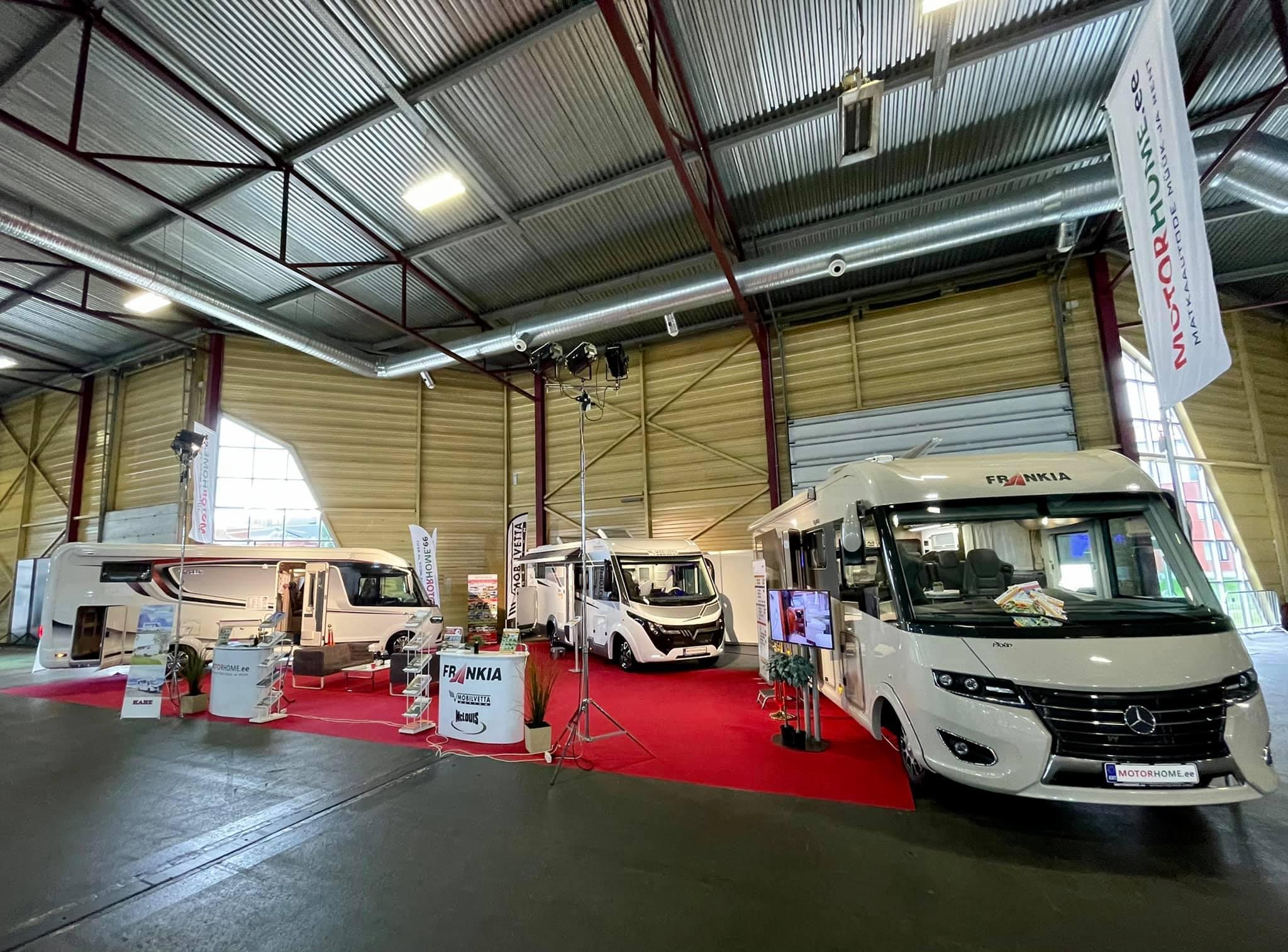 KABE, FRANKIA, MOBILVETTA luksusklassi matkaautod Riia rahvusvahelisel autonäitusel